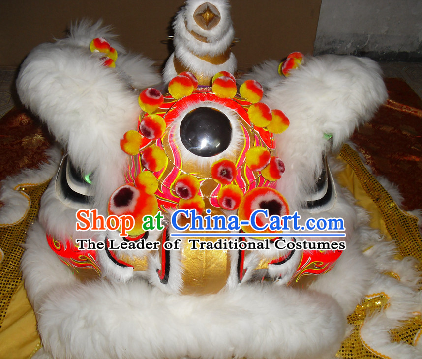 Top Asian Chinese Lion Dance Troupe Performance Suppliers Pants Equipments Art Instruments Lion Head Tail Costumes Complete Set