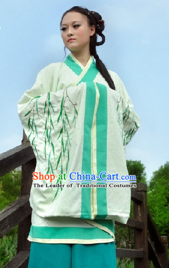 Ancient Chinese Clothing Dress Garment and Hair Accessories Complete Set for Women