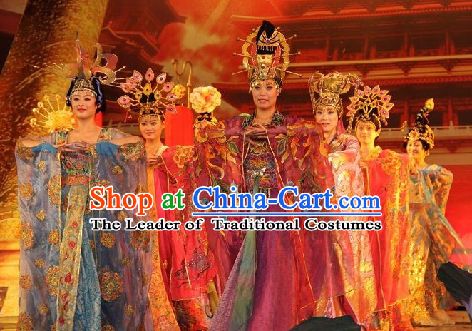 Ancient Chinese Clothing Tang Dynasty Empress Dress Garment for Women