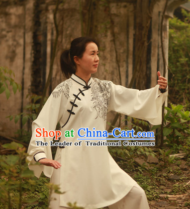 Top Chinese Traditional Mandarin Martial Arts Tai Chi Kung Fu Gong Fu Competition Championship Dresses Suits Uniforms for Men Women Kids