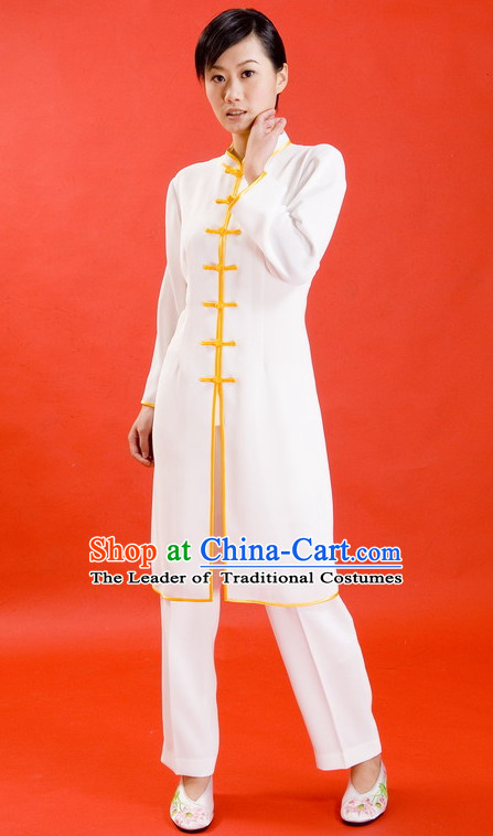 Chinese Traditional Mandarin Martial Arts Tai Chi Kung Fu Gong Fu Competition Championship Flax Suits Uniforms for Men Women Children