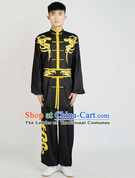 Chinese Traditional Style Martial Arts Summer Wear Kung Fu Embroidered Uniforms for Men Women Children
