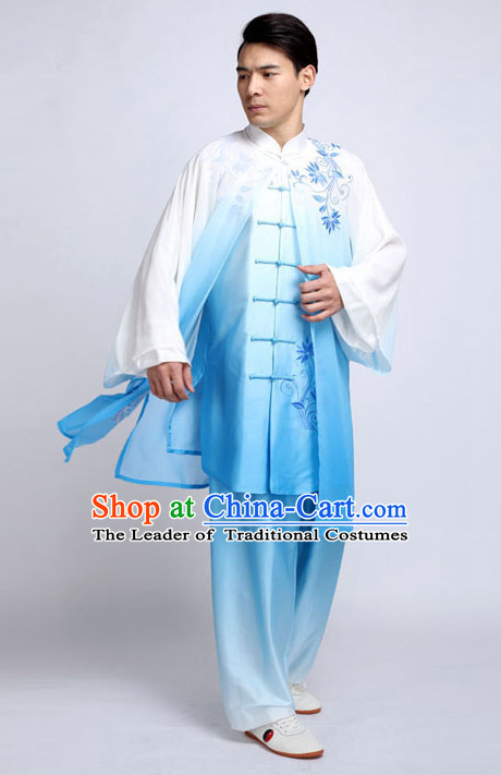 Top Tai Chi Pants Tai Chi Suit Apparel Suits Attire Robe Kung Fu Costume Chinese Kungfu Jacket Wear Dress Uniform Clothing Taijiquan Shaolin Chi Gong Taichi Suits