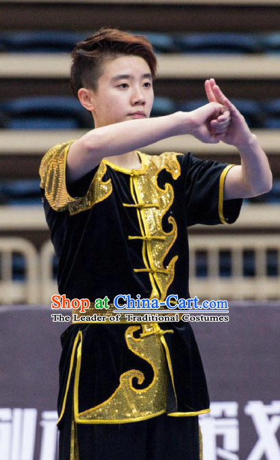 Top Kung Fu Competition Uniforms Pants Suit Taekwondo Apparel Karate Suits Attire Robe Championship Costume Chinese Kungfu Jacket Wear Dress Uniform Clothing Taijiquan Shaolin Chi Gong Taichi Suits for Men Women Kids