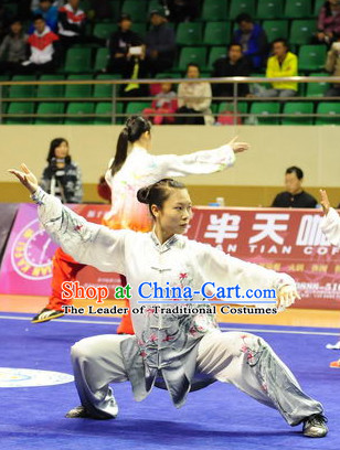 Top Color Transition Kung Fu Competition Championship Uniforms Pants Suit Taekwondo Apparel Karate Suits Attire Robe Championship Costume Chinese Kungfu Jacket Wear Dress Uniform Clothing Taijiquan Shaolin Chi Gong Taichi Suits for Men Women Kids