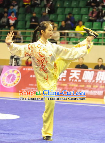 Top Taiji Kung Fu Competition Championship Uniforms Pants Suit Taekwondo Apparel Karate Suits Attire Robe Championship Costume Chinese Kungfu Jacket Wear Dress Uniform Clothing Taijiquan Shaolin Chi Gong Taichi Suits for Men Women Kids