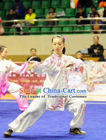 Top Qigong Kung Fu Competition Championship Uniforms Pants Suit Taekwondo Apparel Karate Suits Attire Robe Championship Costume Chinese Kungfu Jacket Wear Dress Uniform Clothing Taijiquan Shaolin Chi Gong Taichi Suits for Men Women Kids