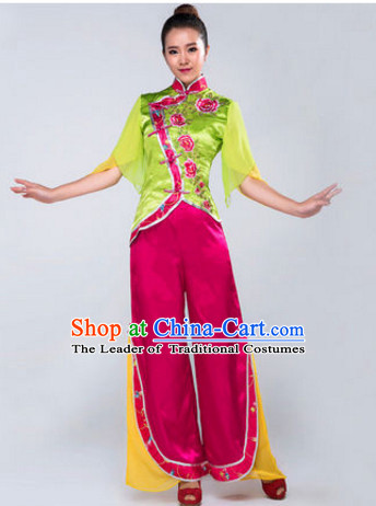 Chinese Stage Folk Dancing Dancewear Costumes Dancer Costumes Dance Costumes Chinese Dance Clothes Traditional Chinese Clothes Complete Set for Women Children