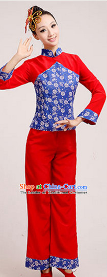 Chinese Traditional Stage Mandarin Dance Dancewear Costumes Dancer Costumes Dance Costumes Clothes and Headdress Complete Set for Children
