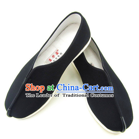 Top Black Chinese Traditional Tai Chi Shoes Kung Fu Shoes Martial Arts Fabric Shoes for Men or Women