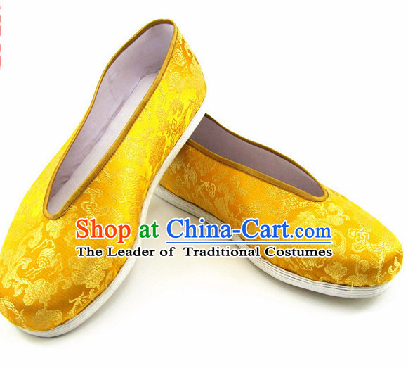 Top Chinese Traditional Tai Chi Shoes Kung Fu Shoes Martial Arts Auspicious Cloud Shoes for Men or Women