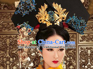 Chinese Traditional Qing Dynasty Empress Headwear Hat