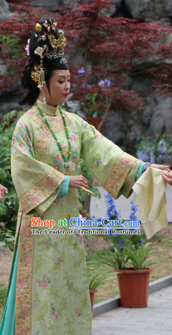 Chinese Imperial Palce Empress Costumes Complete Set for Women Girls