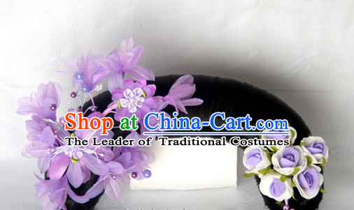 Chinese Qing Dynasty Classical Manchu Hair Jewelry Headwear Headdress