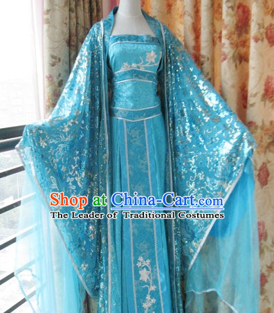Ancient Chinese Imperial Palace Empress Queen Princess Garment Complete Set