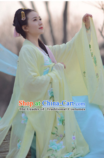 Top Chinese Tang Dynasty Beauty Hanfu Clothing Chinese Hanfu Costume Hanfu Dress Ancient Chinese Costumes Complete Set for Women Girls Children