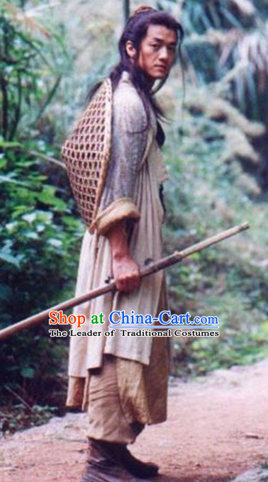 Chinese Ancient Male Knight Costumes Complete Set