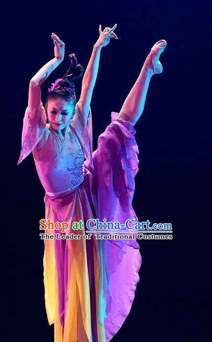 Chinese Classical Dance Costumes Complete Set for Women
