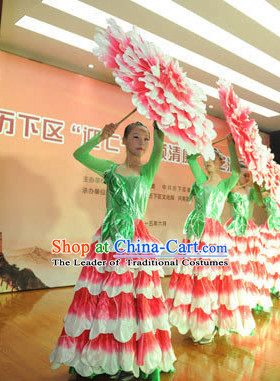 Professional Stage Performance Peony Flower Dancing Costumes Dance Costume for Women