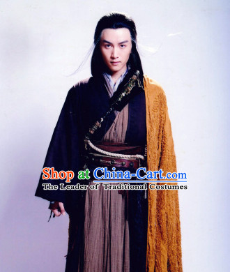 Chinese Ancient Style Yang Guo Shen Diao Xia Lv Drama Costumes Complete Set for Men