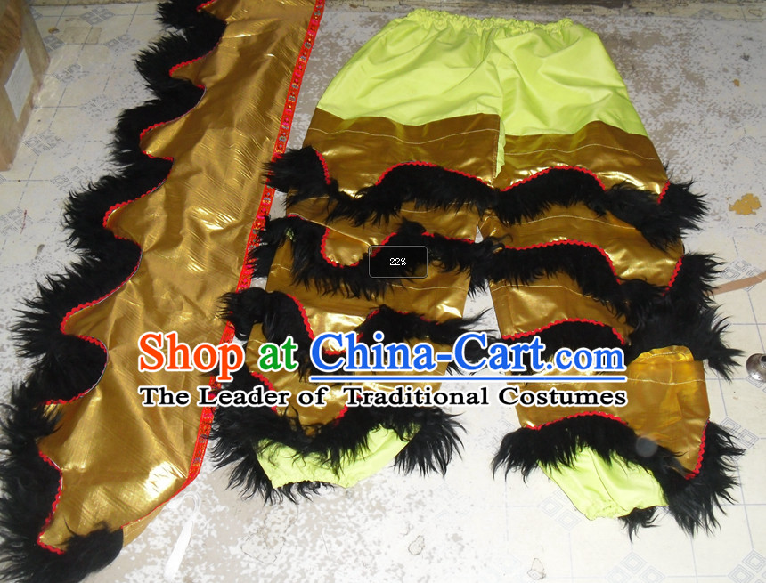 Top Asian Chinese New Year Performance 2 Pairs of Lion Dance Pants and Claws