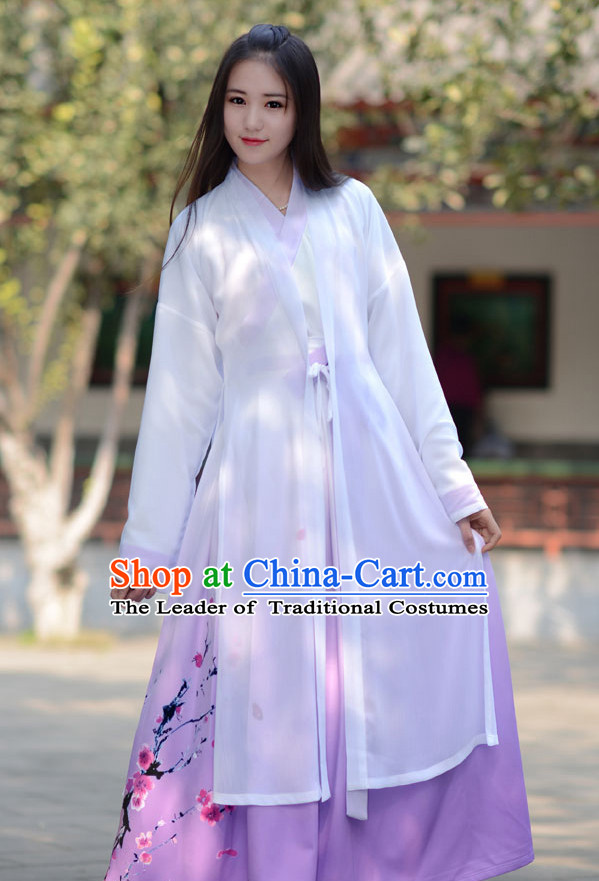 Ancient Chinese Hanfu Garment Complete Set for Women