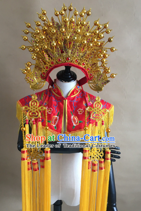 Gold Chinese Traditional Phoenix Coronet Opera Hat