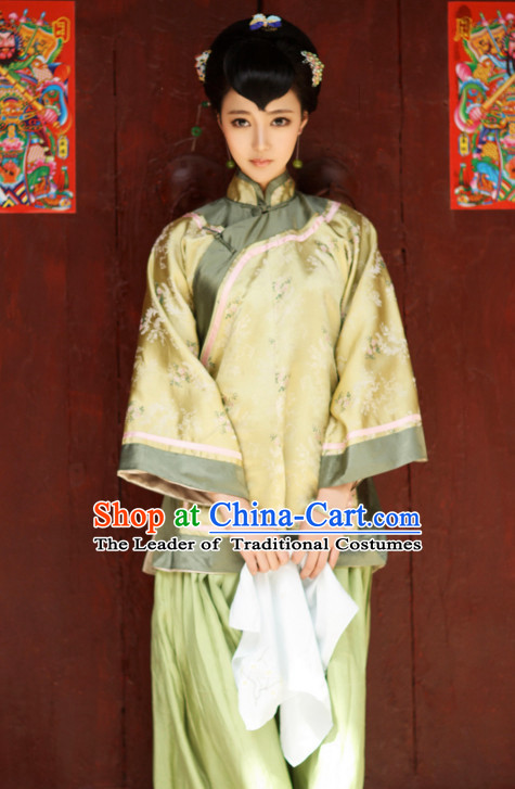 Traditional Chinese Beauty Costumes and Hair Jewelry Complete Set for Women