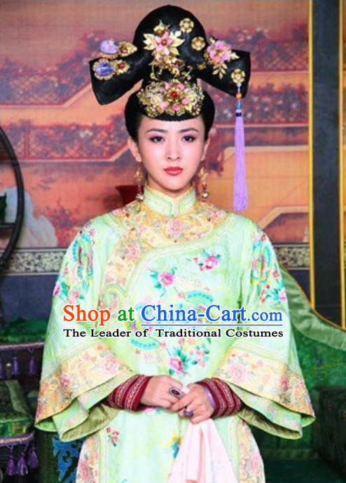 Ancient Chinese Princess Black Wigs and Hair Accessories for Women