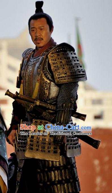 Ancient Chinese General Superhero Body Armor Costumes Complete Set for Men