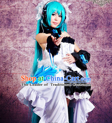 Custom Made VOCALOID TYPE2020 Cosplay Costumes and Headwear Complete Set for Women or Girls
