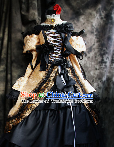 Custom Made Vocaloid Cosplay Costumes and Headwear Complete Set for Women or Girls