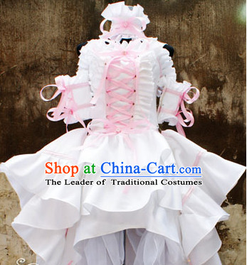 Custom Made Chobits Cosplay Costumes and Headwear Complete Set for Women or Girls