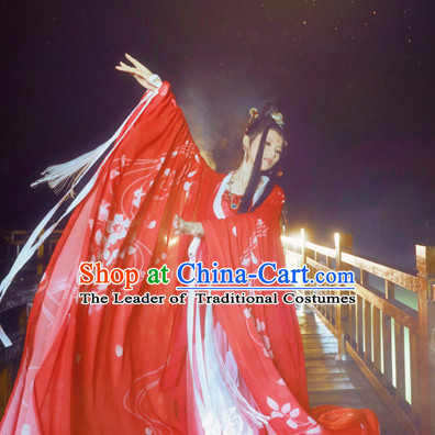 Chinese Ancient Style Fairy Dance Costumes Complete Set for Women