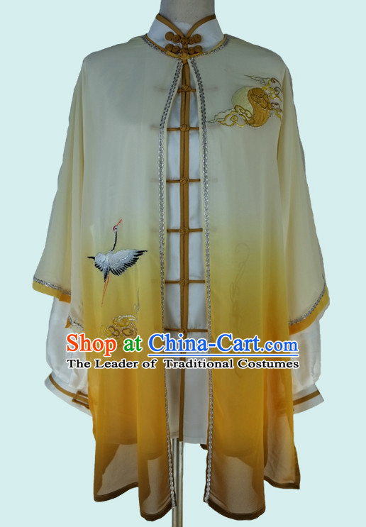 Chinese Classical Embroidered Crane Tai Chi Uniforms