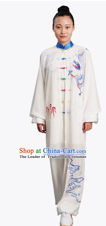Top Chinese Traditional  Tai Chi Kung Fu Competition Championship Clothing Three Pieces Suits Uniforms