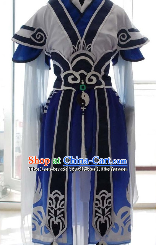 Traditional Chinese Swordsman Dress Chinese Clothing Cloth China Attire Oriental Dresses for Women
