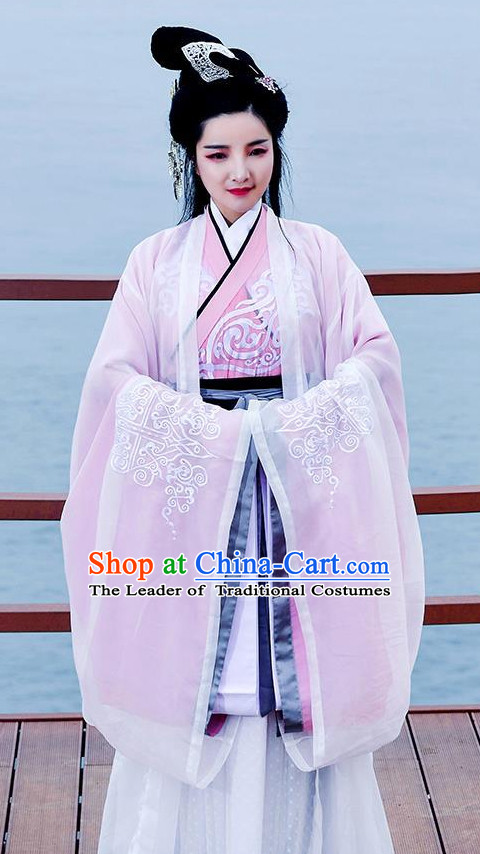 Traditional Chinese Han Dynasty Dress Chinese Hanfu Clothing Cloth China Attire Oriental Dresses Complete Set for Women