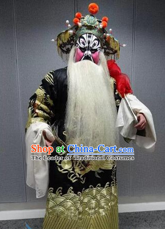 Chinese Beijing Opera Costumes Peking Opera Prime Minister Costume Complete Set for Men