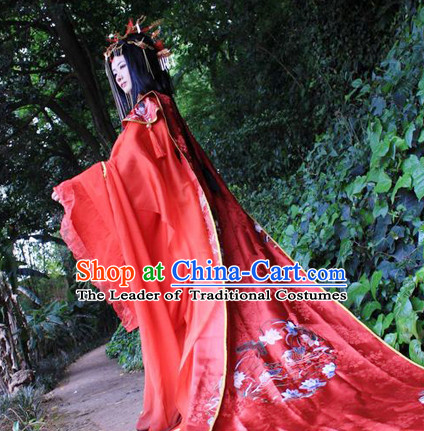 Traditional Chinese Imperial Royal Court Wedding Dress Hanfu Clothing Classical Empress Costumes Complete Set for Women