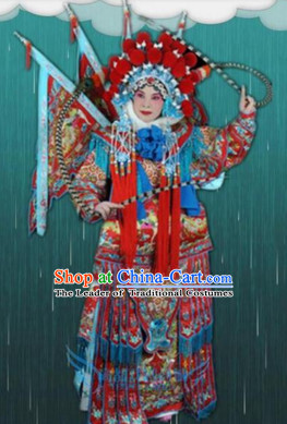Chinese Beijing Opera Costumes Peking Opera Superheroine Costume Complete Set for Women