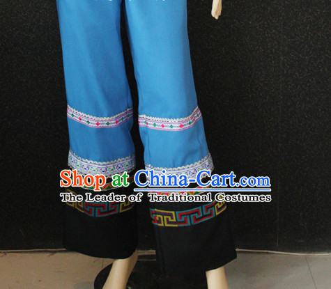 Chinese Folk Dance Ethnic Wear China Clothing Costume Ethnic Dresses Cultural Dances Costumes Men Women