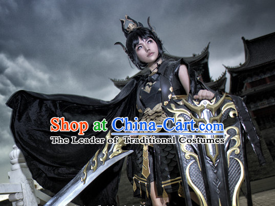 Chinese Costume Superhero Armor Cosplay Costumes China Traditional Armors Complete Set