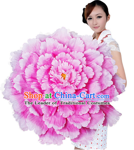 Light Pink Traditional Dance Peony Umbrella Props Flower Umbrellas Dancing Prop Decorations