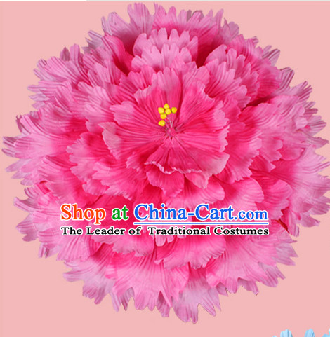Rose Traditional Dance Peony Umbrella Props Flower Umbrellas Dancing Prop Decorations for Kids Children Girls Boys