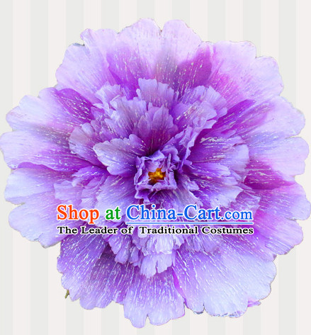 Purple Traditional Dance Props Flower Umbrella Dancing Prop Decorations for Men Women Adults
