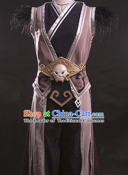 Fighter BJD Dolls Puppet Play Marionette Show Costumes and Accessories Complete Set for Puppets or People