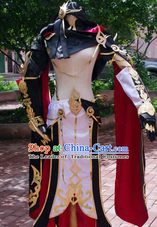 China Fairy Costume Cosplay Armor Archer Costume Avatar Costumes Wonderflex Knight Armorsuit Leather Metal Fantasy Armoury and Hair Decortaions Complete Set
