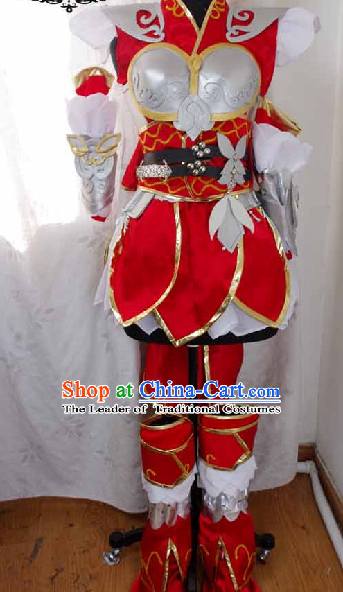 Top China Female Costume Cosplay Armor Archer Costume Avatar Costumes Wonderflex Knight Armorsuit Leather Metal Fantasy Armoury and Hair Decortaions Complete Set