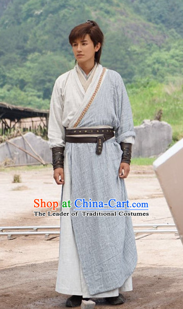 Ancient Chinese Knight Costumes Complete Set for Men